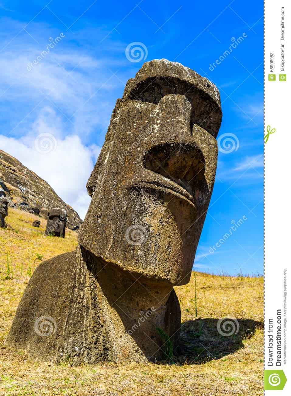 Moai the polynesian stone carving stock photo image