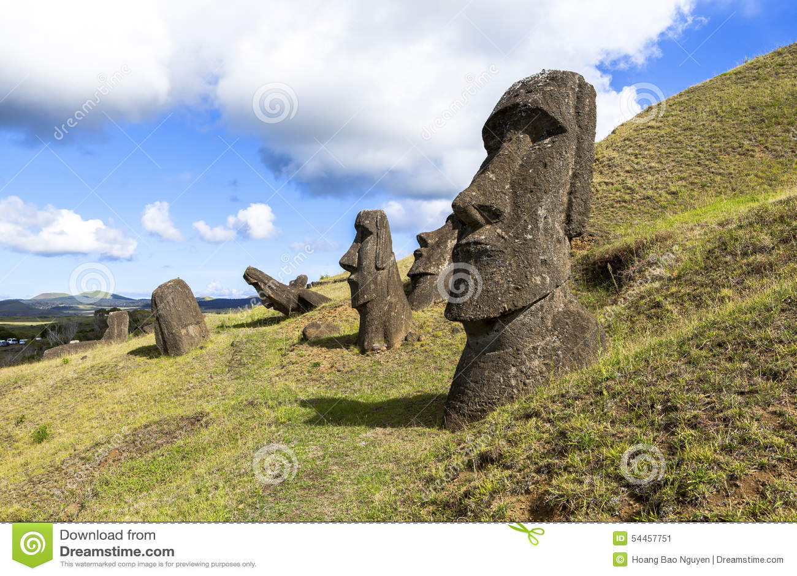Moai Statues in Easter Island, Chile