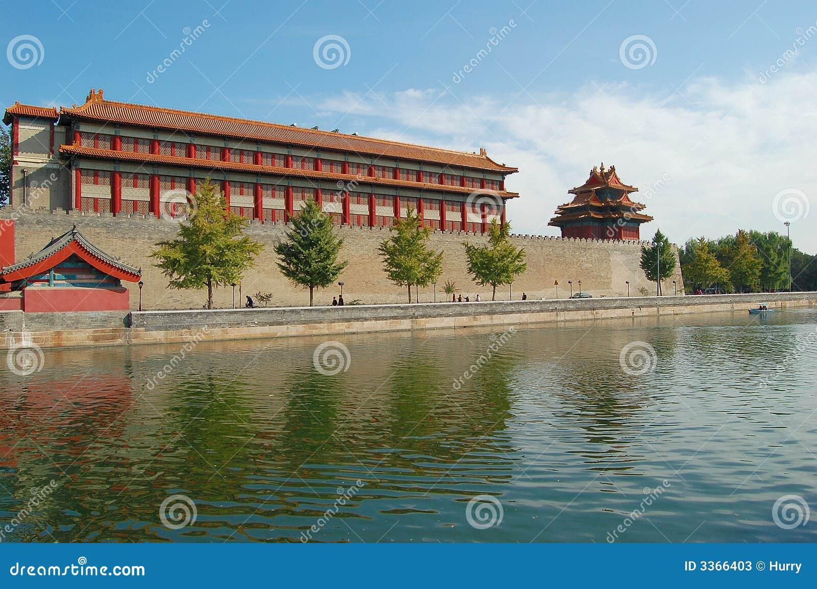 Download Moat & Turret, Forbidden City Stock Image - Image of tourism, corner: 3366403