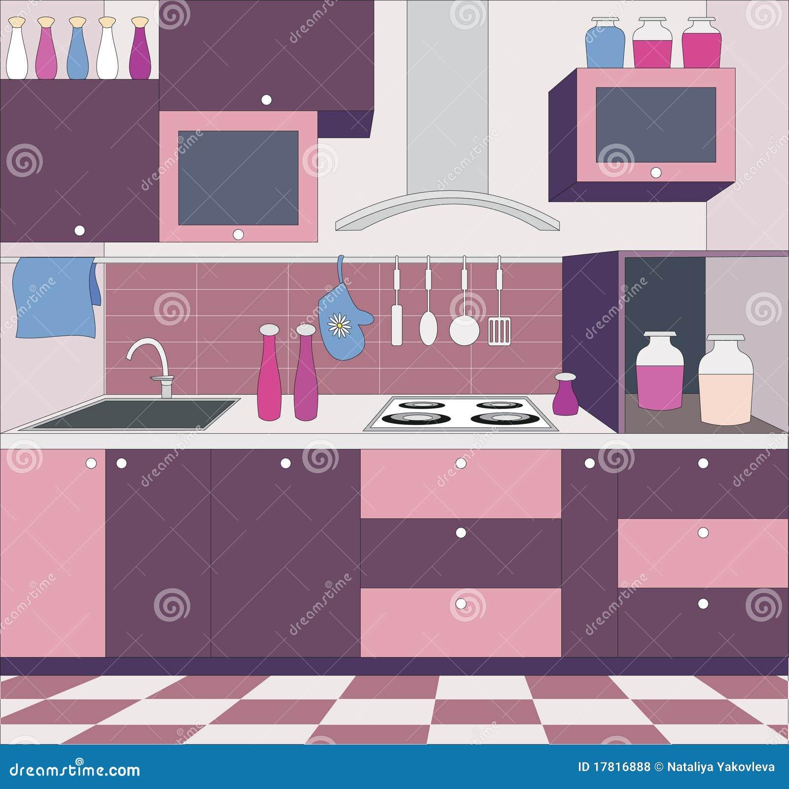 Mob lia da cozinha ilustra o do vetor ilustra o de for Mobilia 9 6