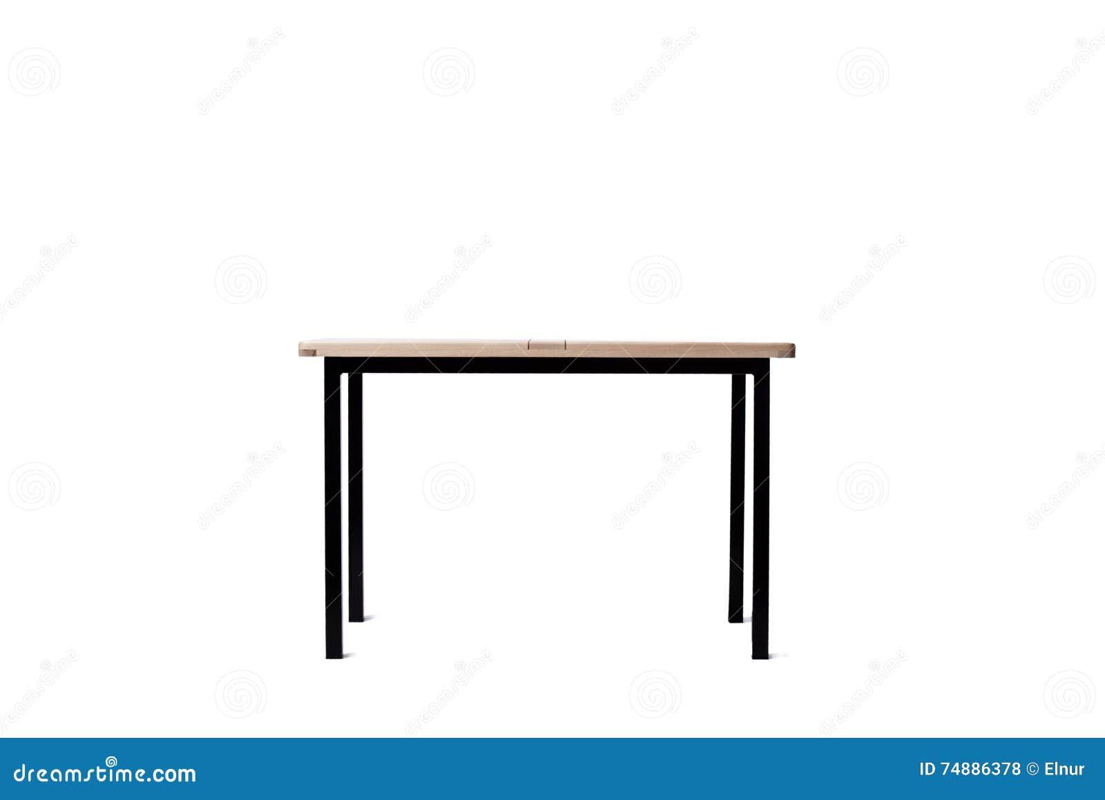 A mobília da tabela isolada no branco