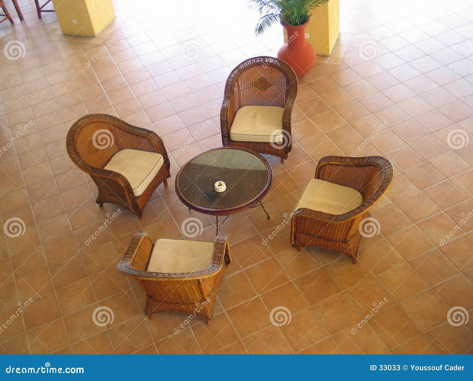 Mobília do Rattan