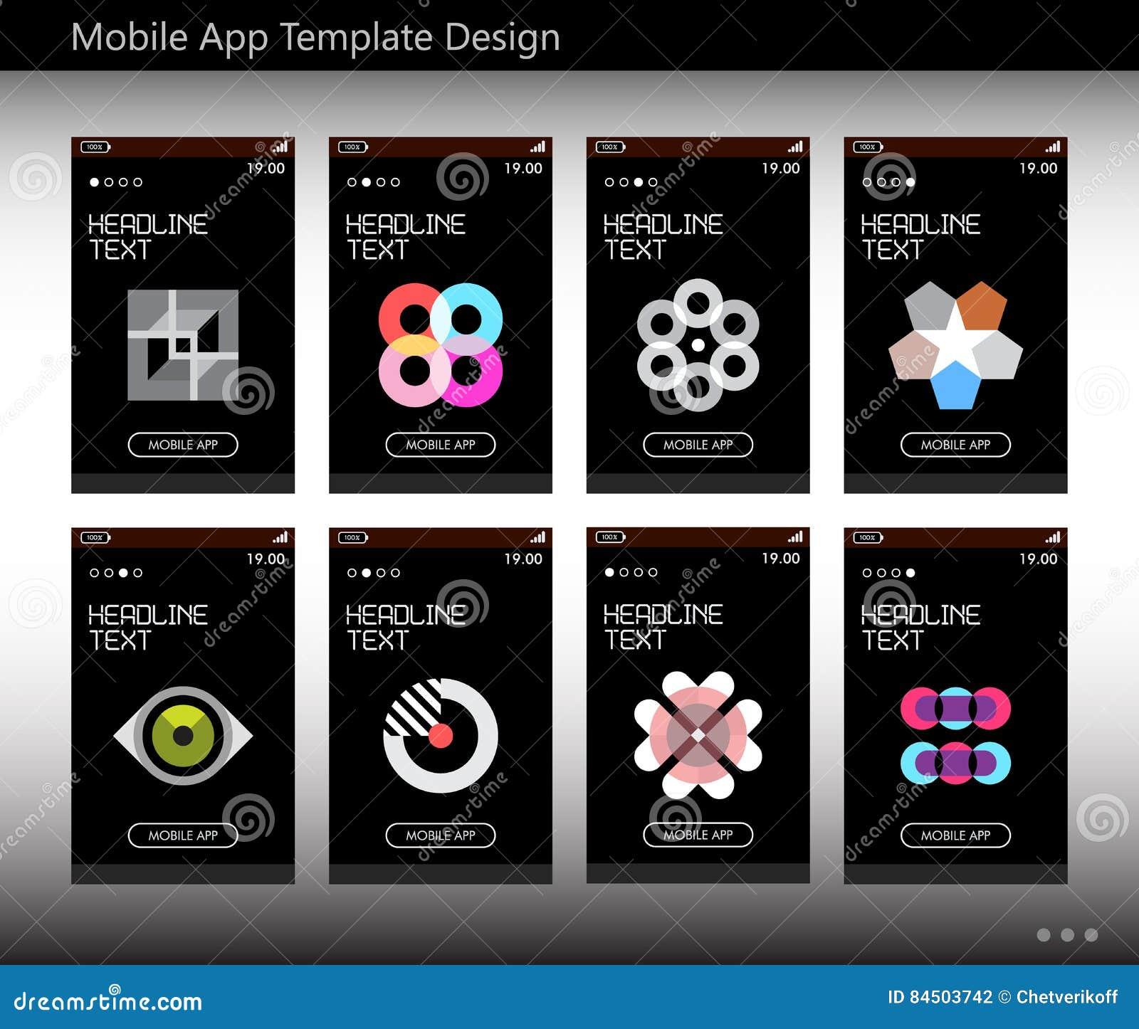 Mobiel App Malplaatjeontwerp