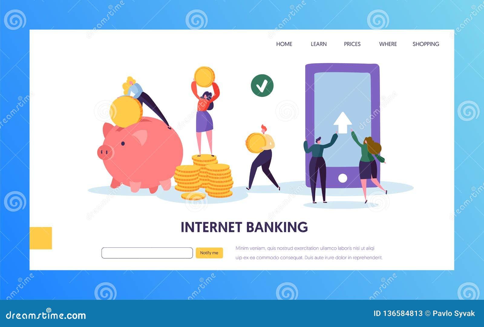 Mobiel Internet-de Overdrachtlandingspagina van de Bankwezenbetaling De online Cashback-Dienst voor Bankportefeuille in Smartphon