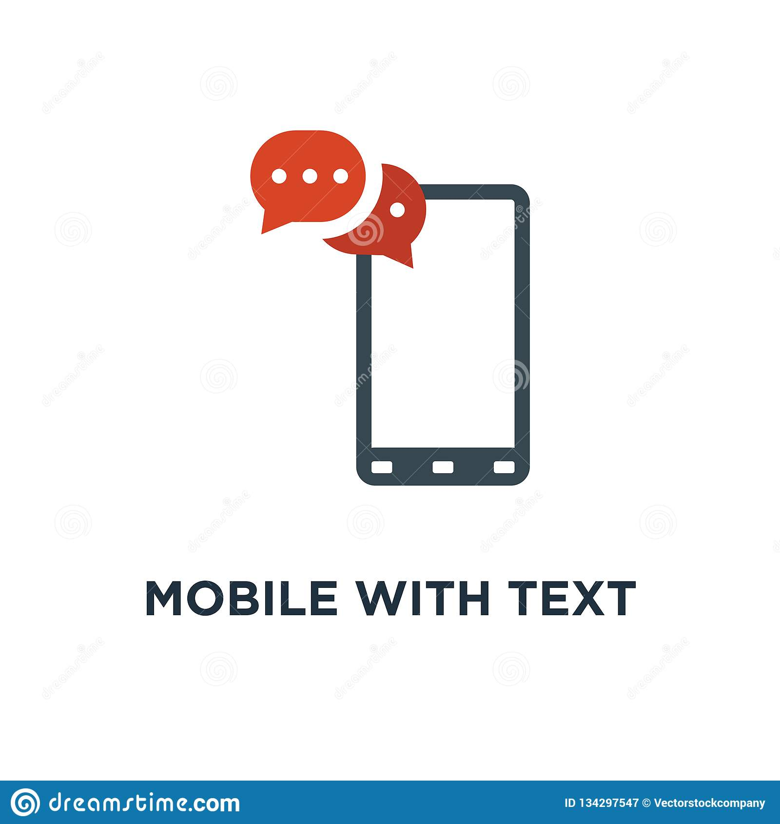 Mobiel met sms-berichtpictogram sms, communicatie conceptensymbool