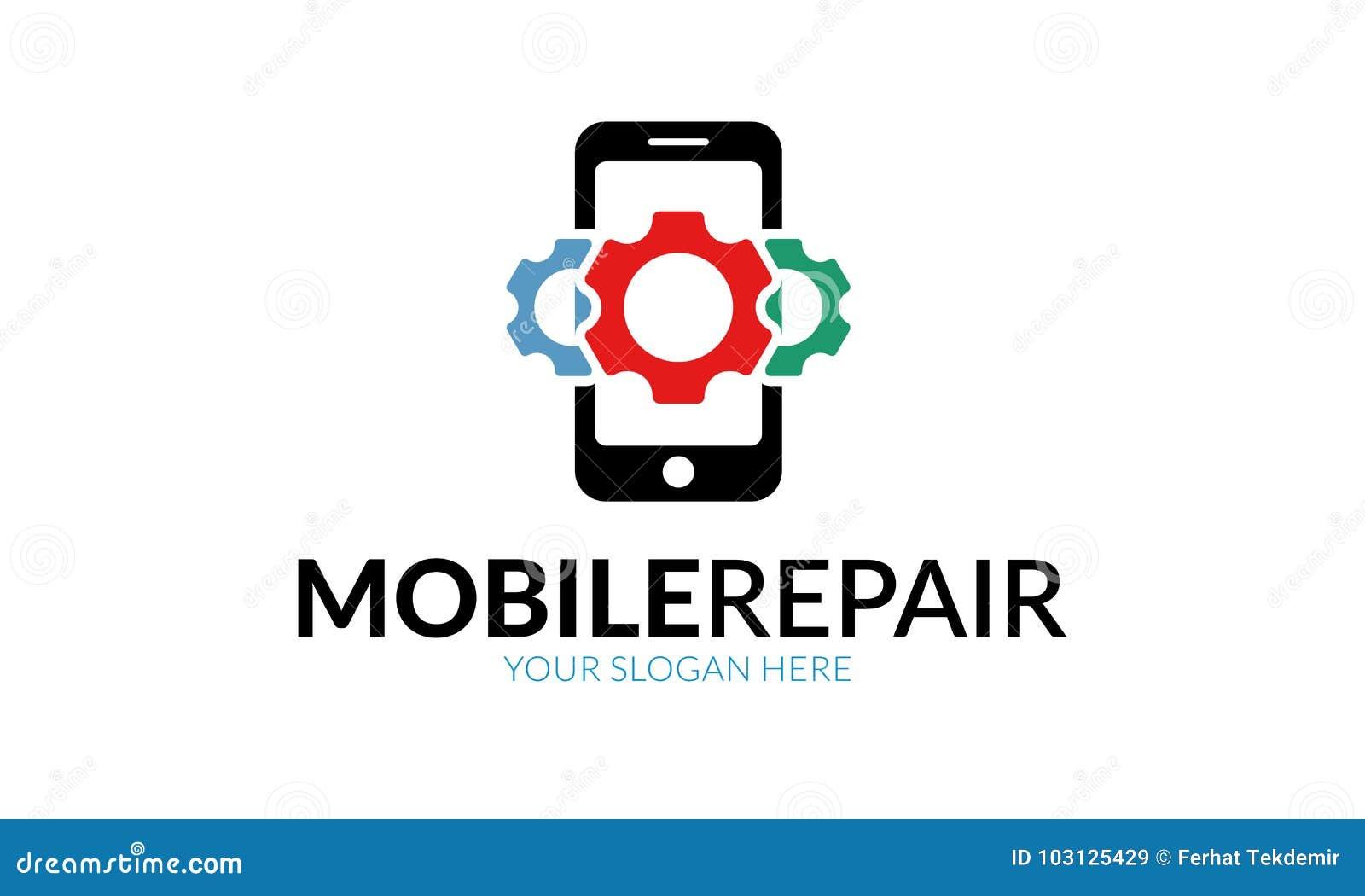 Mobiele Reparatie Logo Template