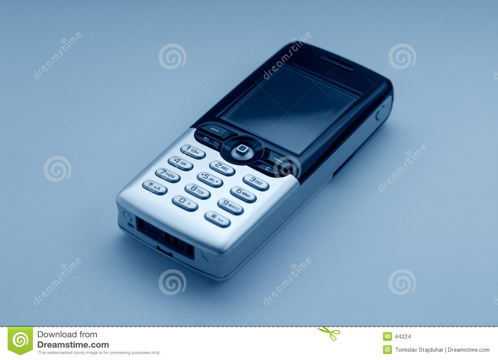 Mobiele telefoon - blauwe toon