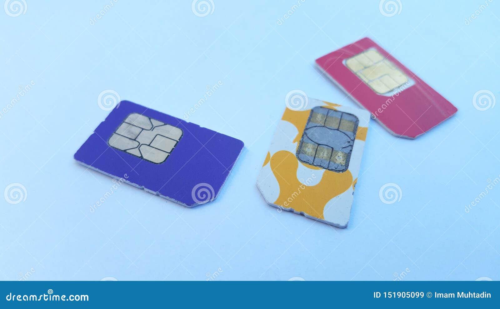 Mobiele telefoon sim kaart, één van de technologieën op het gebied van mededeling