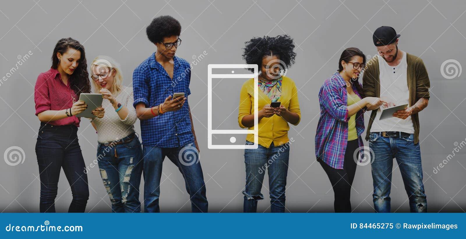 Mobiele Telefoonmobiliteit Draadloos Technologieconcept