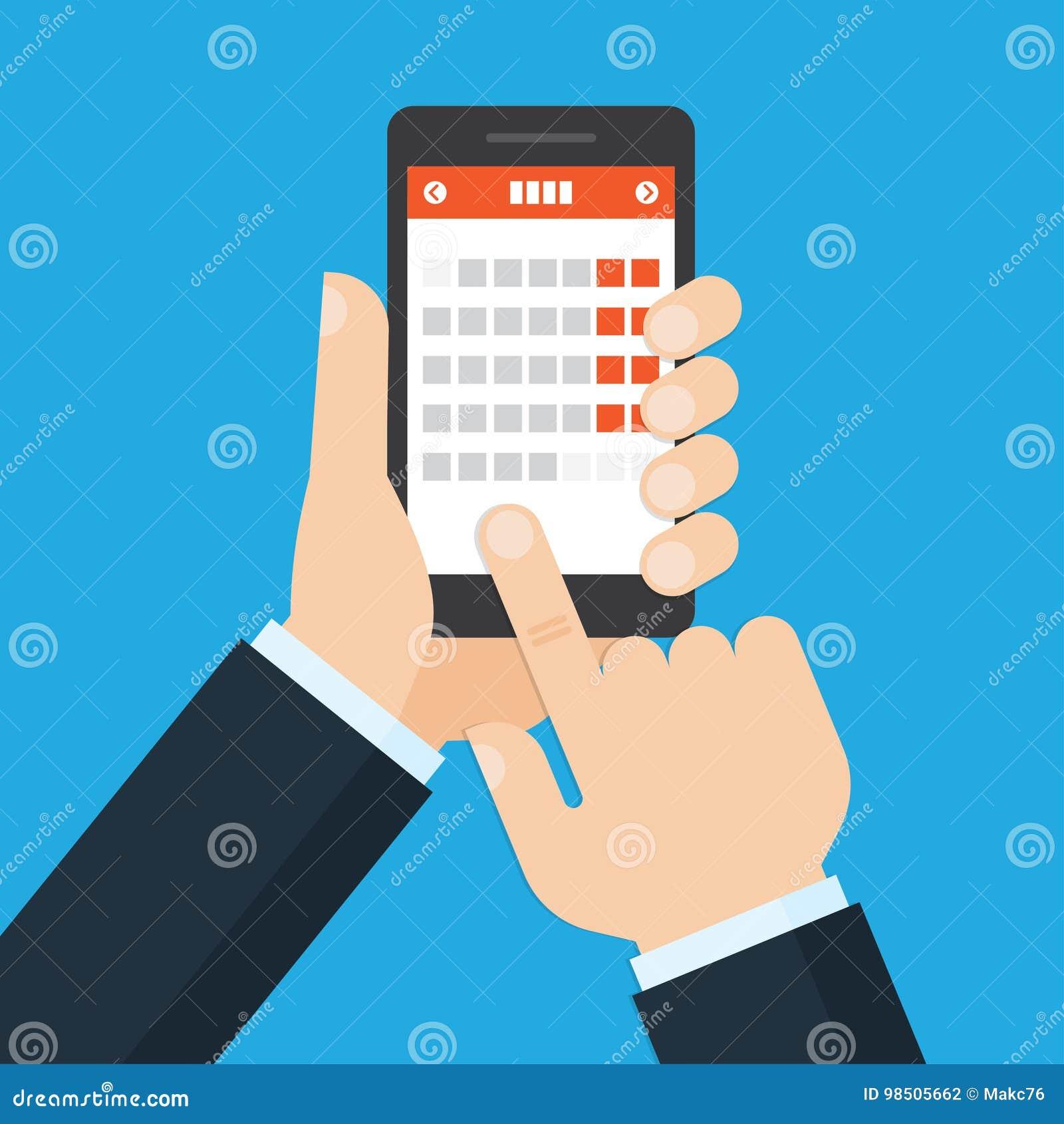 Mobiele toepassing voor kalender