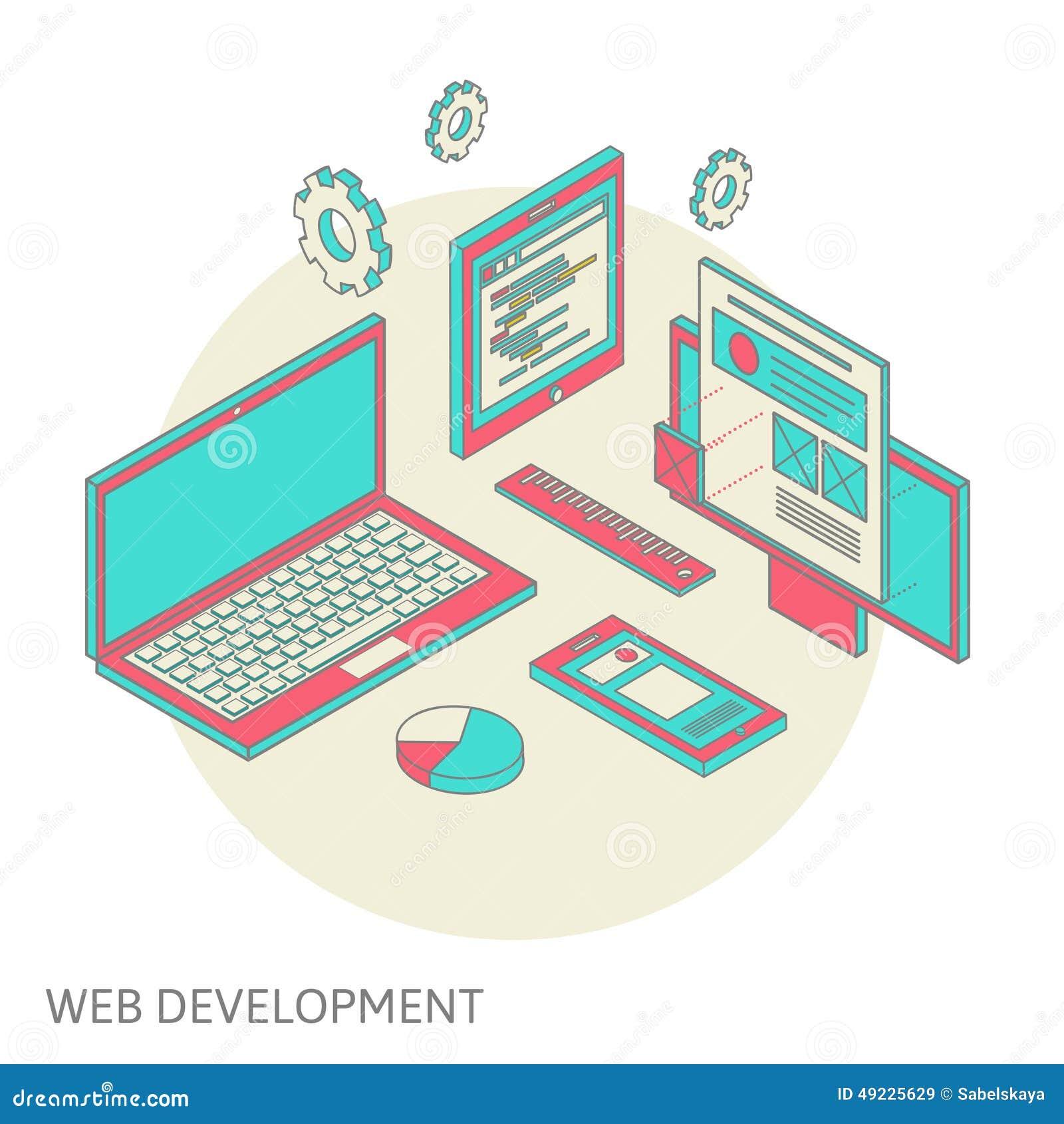 Mobil och skrivbords- websitedesignutveckling