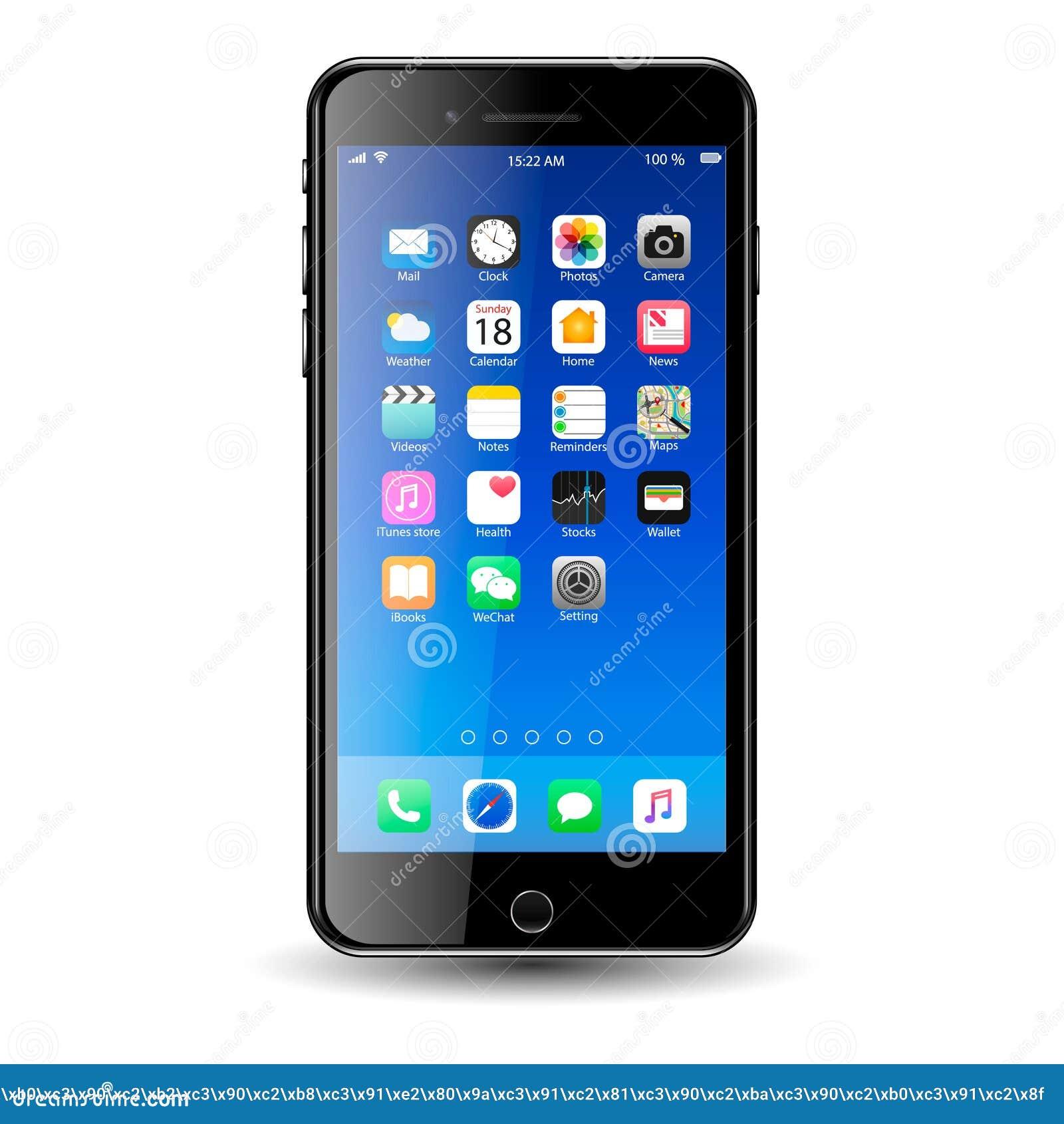 Mobil-Telefoon met Pictogrammen