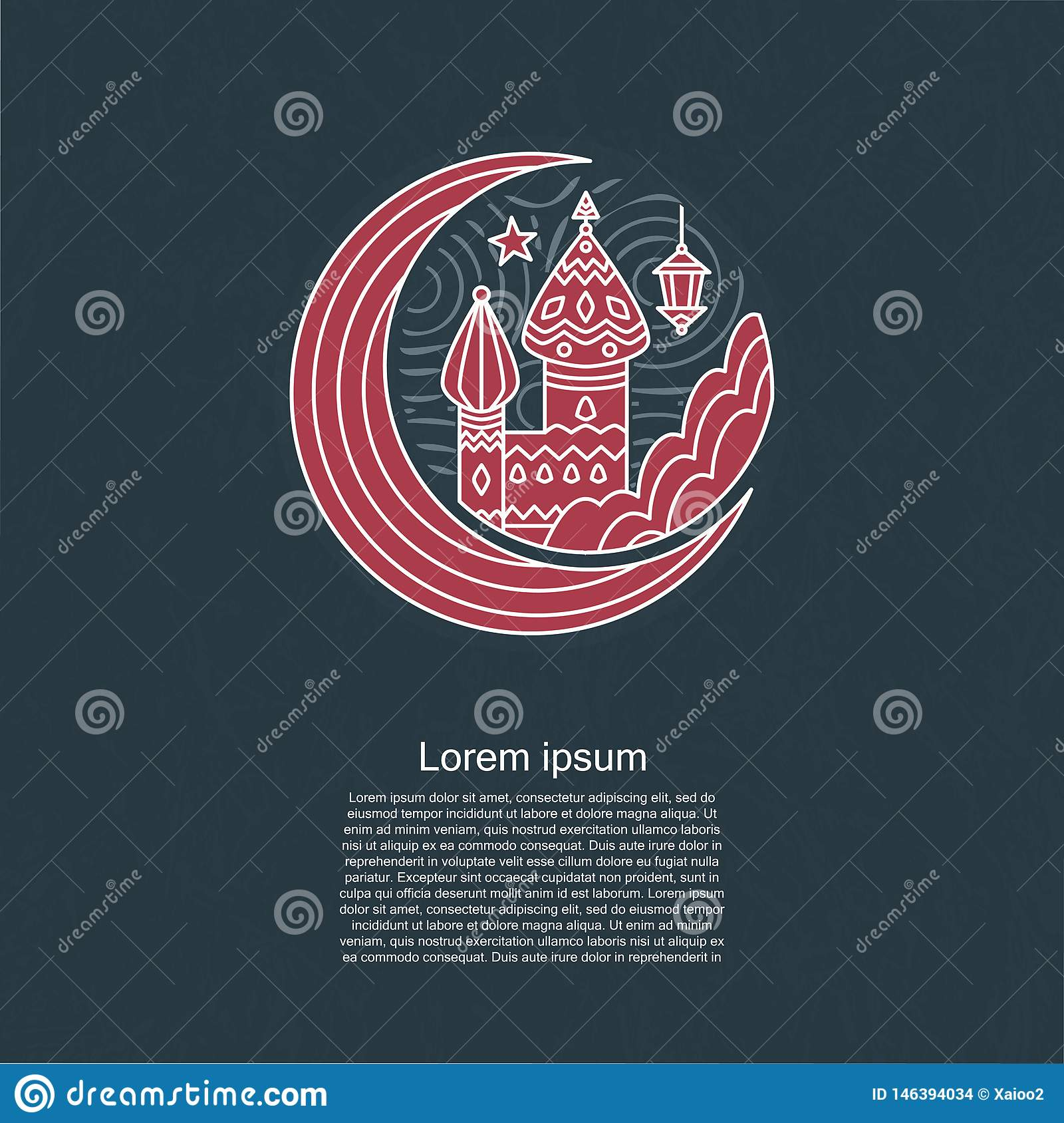 Arabic ramadan template islamic background islam vector muslim design card illustration