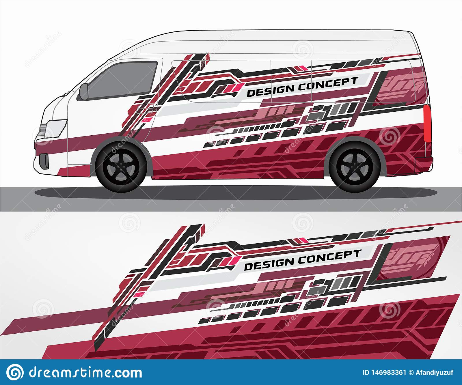 Vinyls Sticker Set Decals For Car Truck Mini Bus Modify Motorcycle Racing Vehicle Stock Vector Illustration Of Design Background 146983361