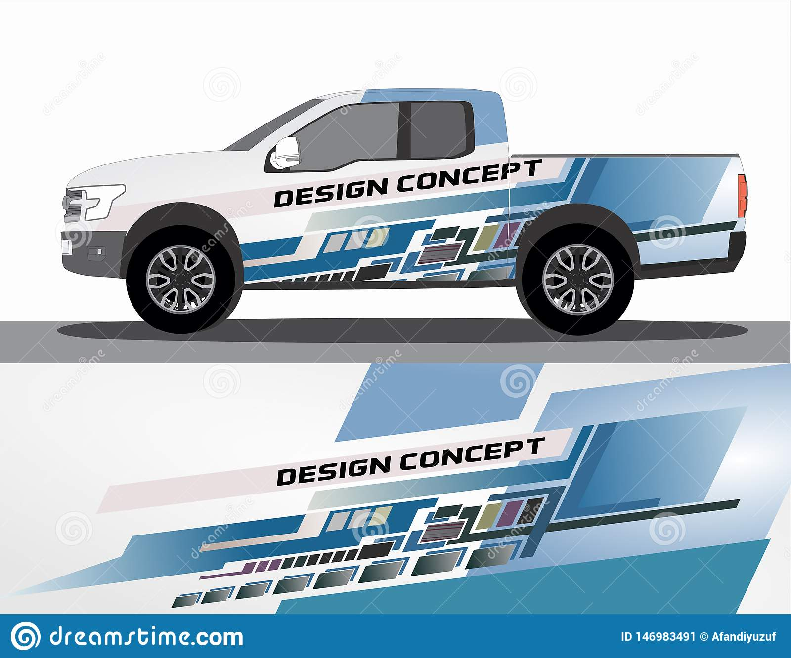 Vinyls Sticker Set Decals For Car Truck Mini Bus Modify Motorcycle Racing Vehicle Stock Vector Illustration Of Body Clip 146983491