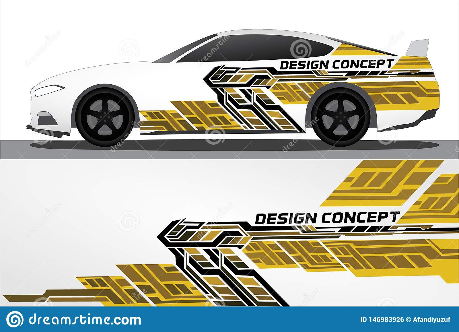 Vinyls Sticker Set Decals For Car Truck Mini Bus Modify Motorcycle Racing Vehicle Stock Vector Illustration Of Decorative Body 146983926