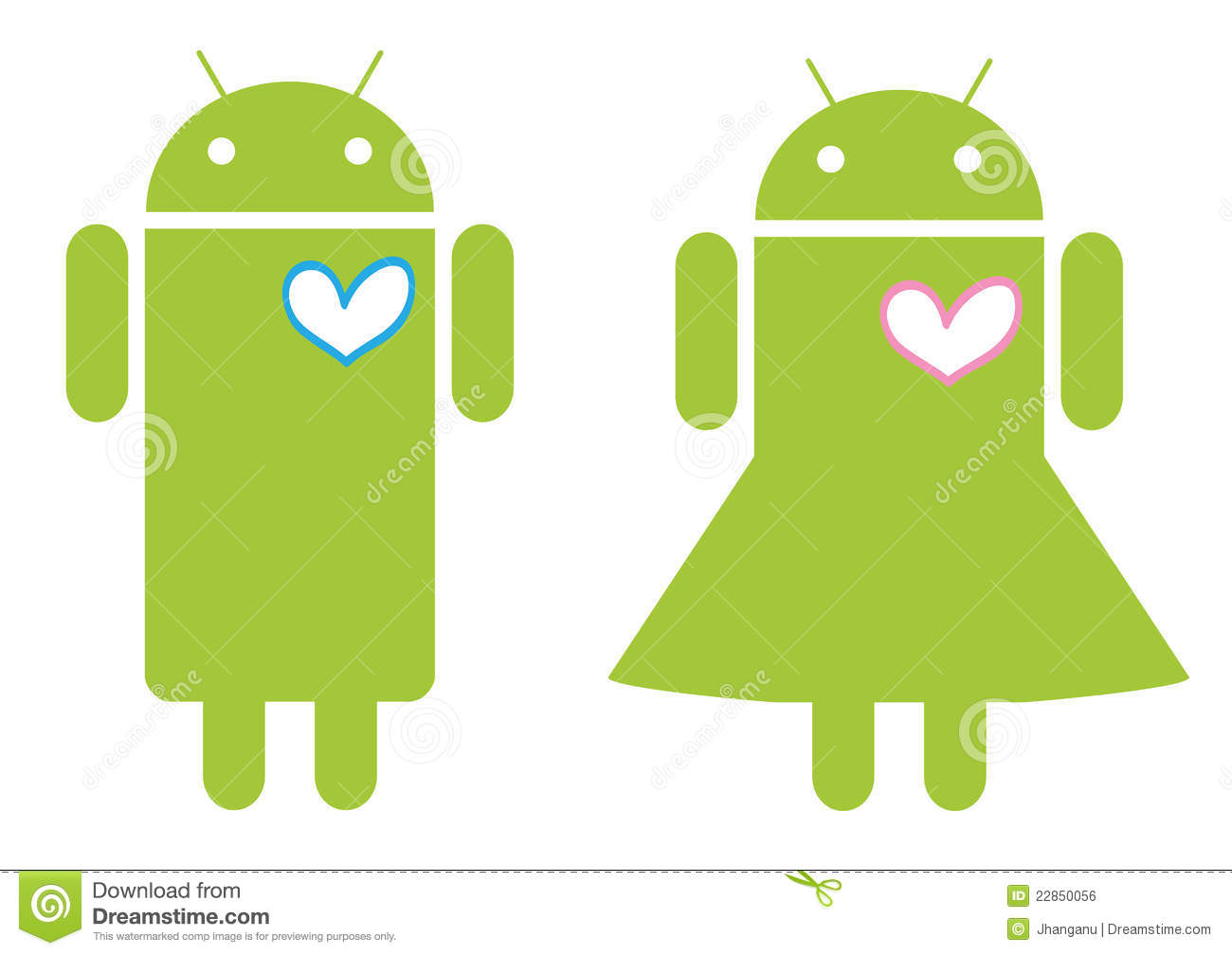 Mobile Android love couple