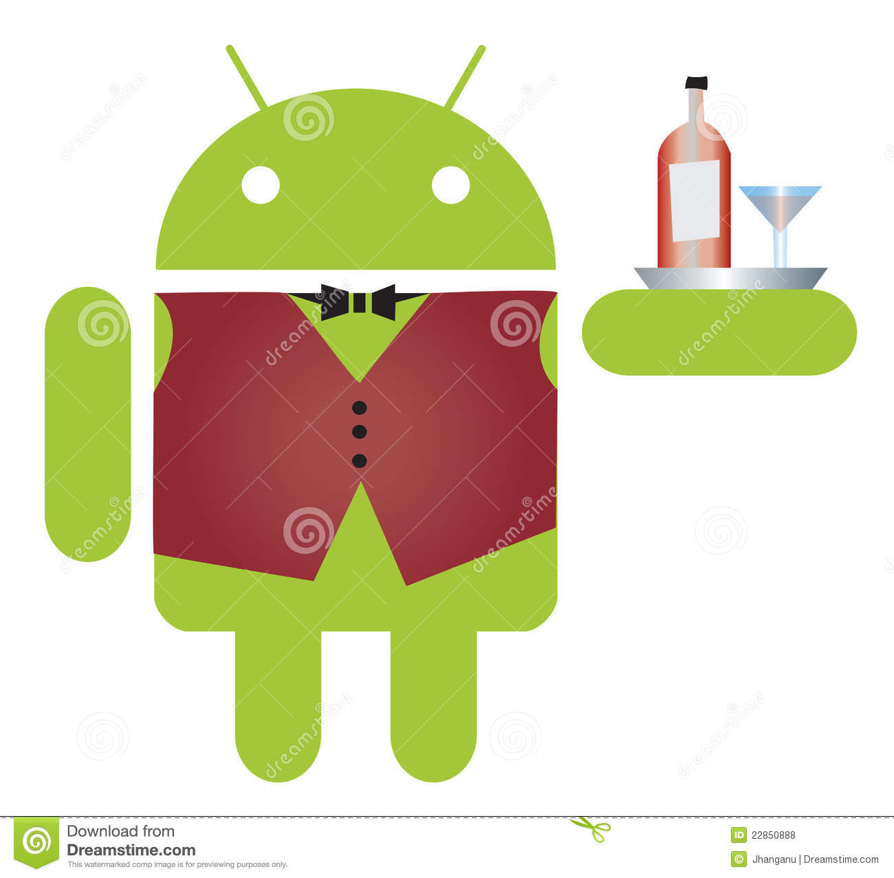 Mobile Android waiter