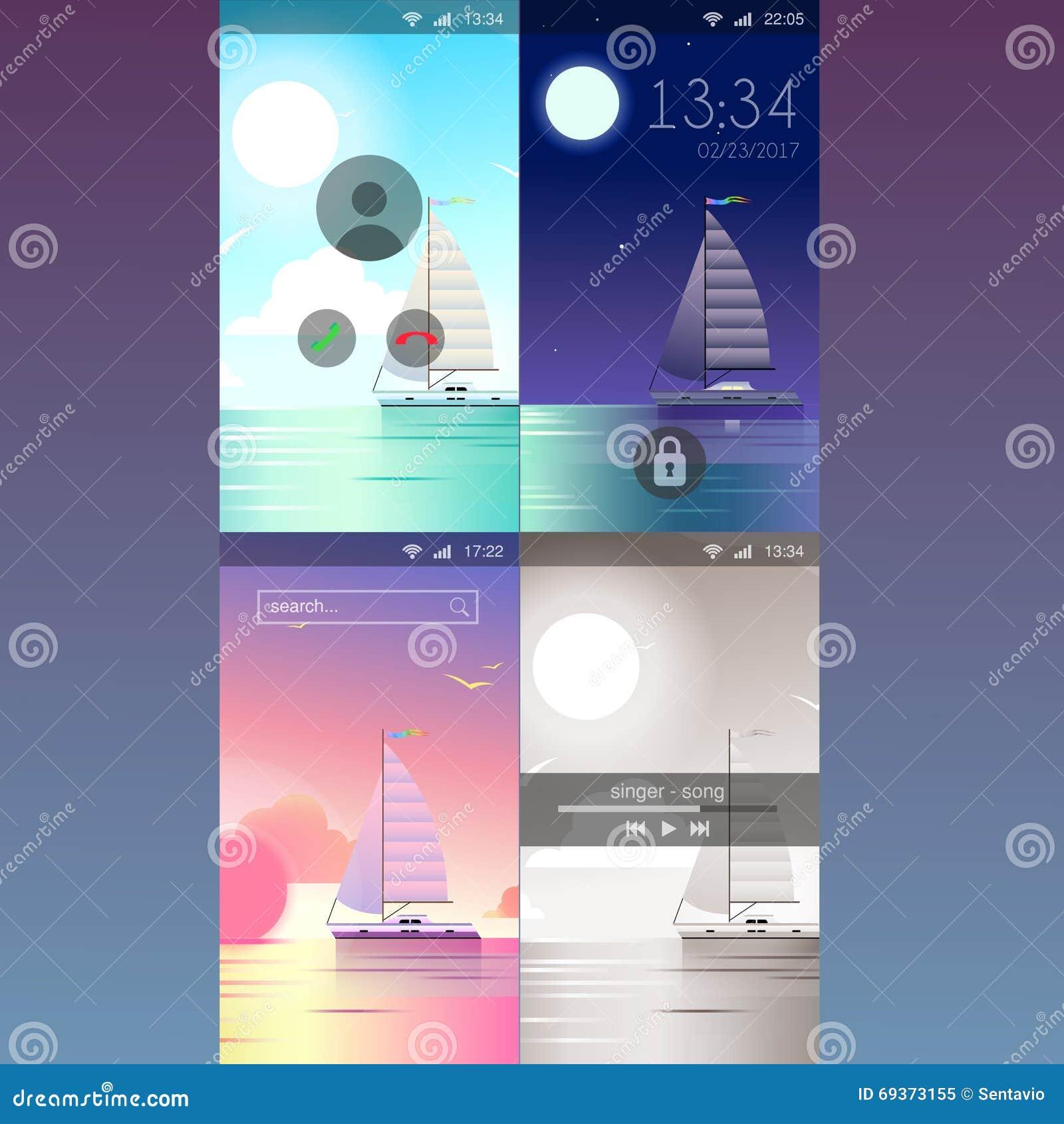 mobile app application background wallpaper template mockup stock vector illustration of. Black Bedroom Furniture Sets. Home Design Ideas