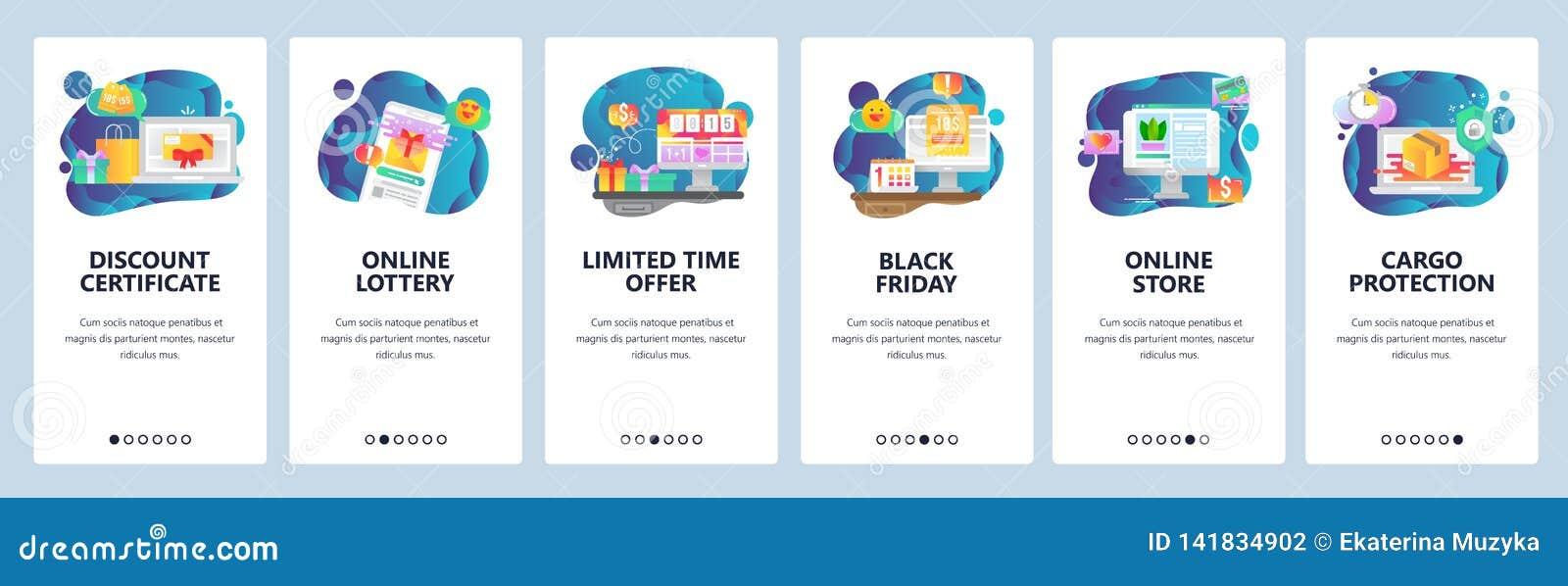Mobile App Onboarding Screens  Online Shopping, Black Friday