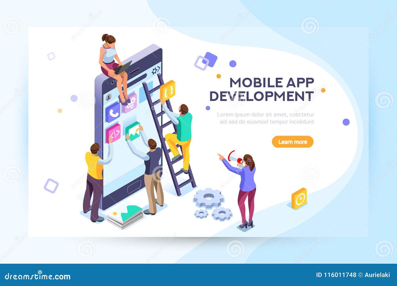 Mobile Application User And Developers Stock Vector - Illustration ... 6b10ef7d5