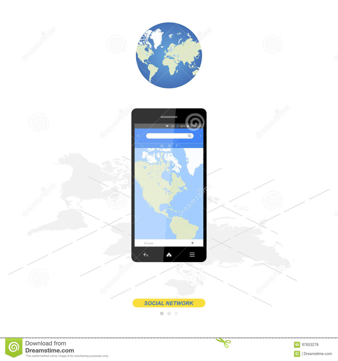 Mobile application with world map for navigation in smartphone flat download comp gumiabroncs Choice Image