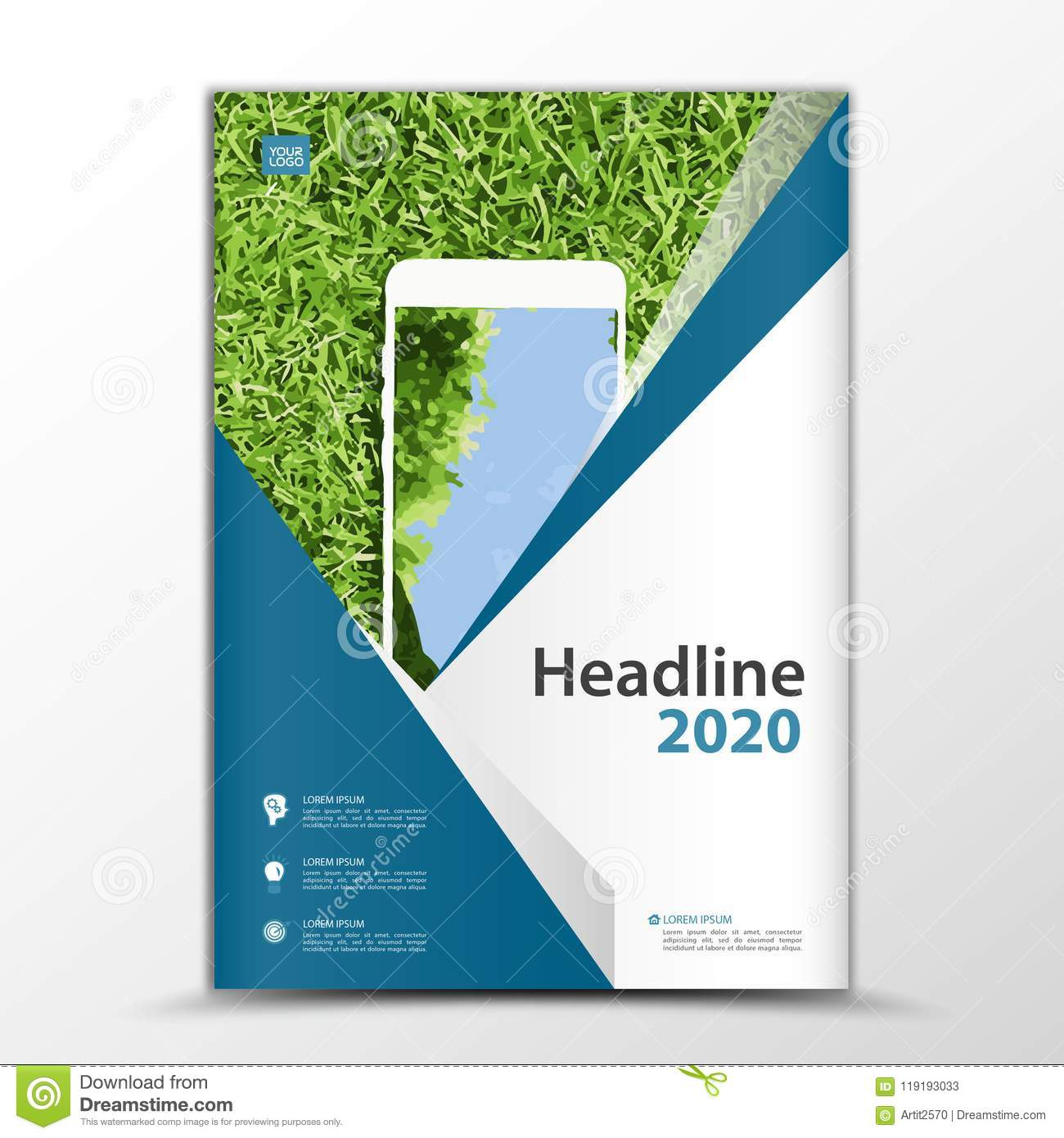 Mobile Apps Flyer, Cover Design, Smartphon Ad, Annual Report Cover With Mobile Book Report Template