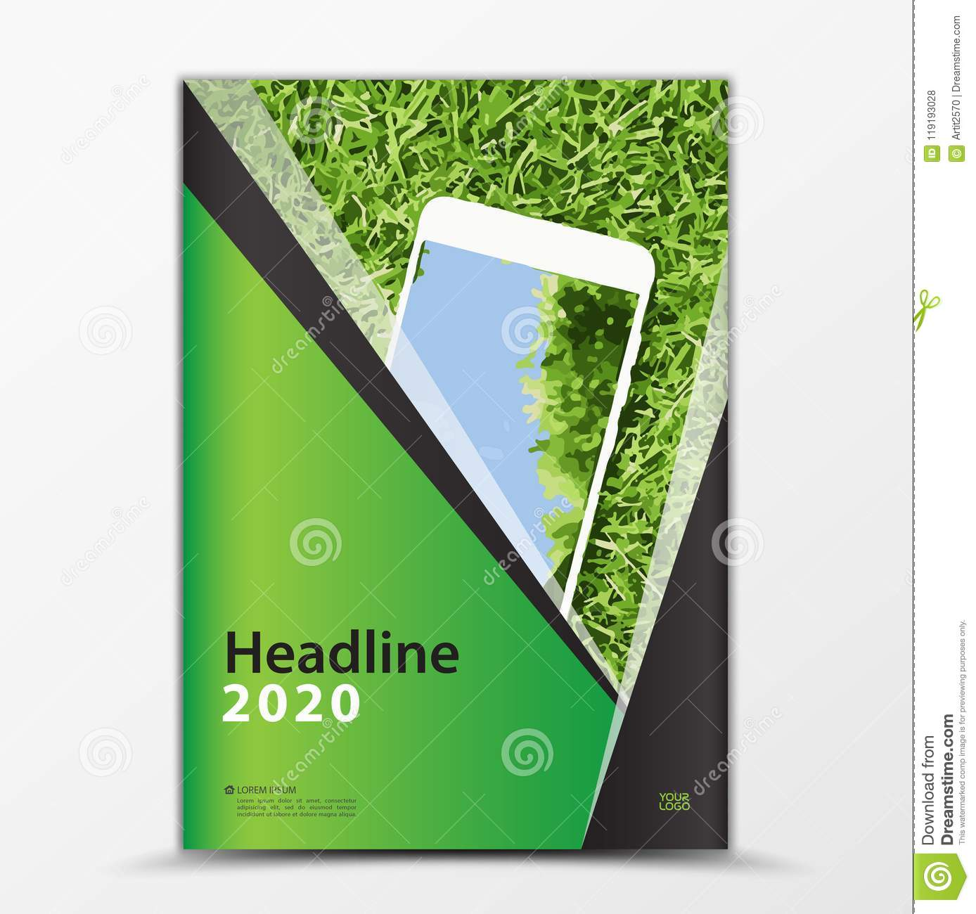 Mobile Apps Flyer, Cover Design, Smartphon Ad, Annual Report Cover Inside Mobile Book Report Template