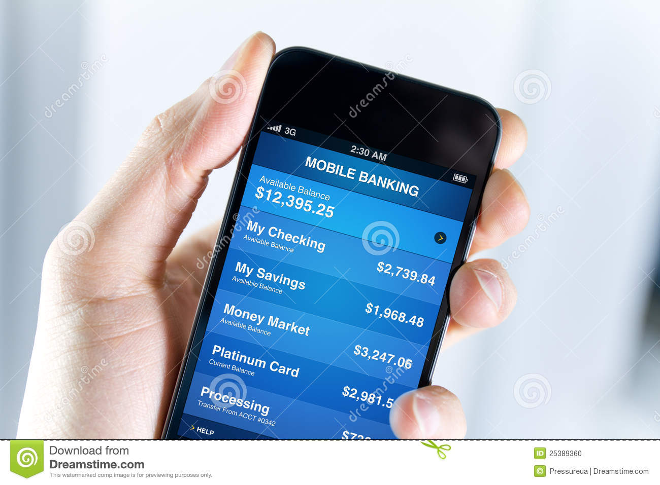 Mobile Banking On Apple iPhone