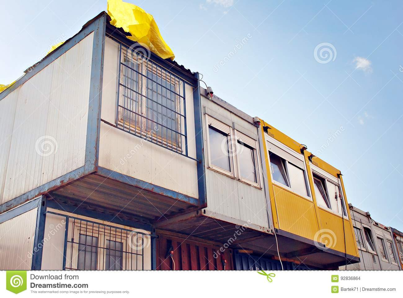 download mobile building in industrial site or office container stock photo image of industry container office building r77 container