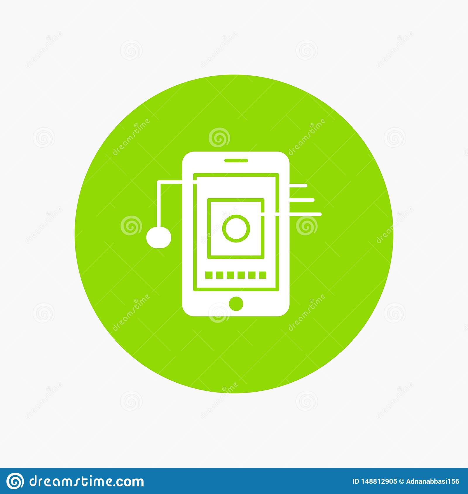 Mobile, Cell, Hardware, Network white glyph icon