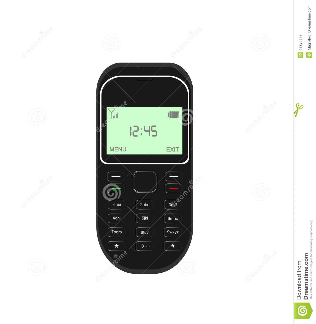 Mobile Cell Phone Isolated
