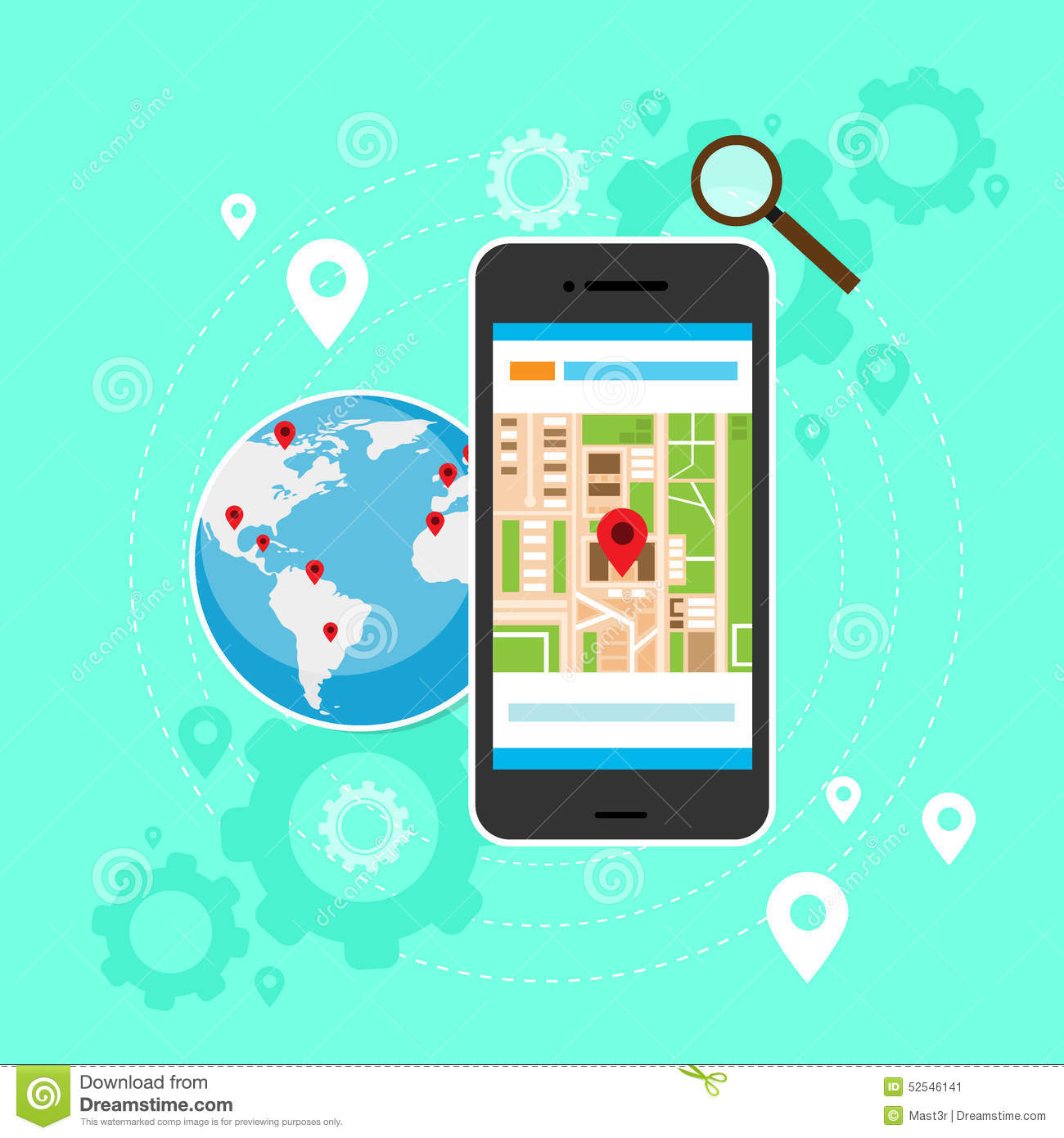 Mobile cell phone world map gps globe navigation stock vector mobile cell phone world map gps globe navigation gumiabroncs Image collections
