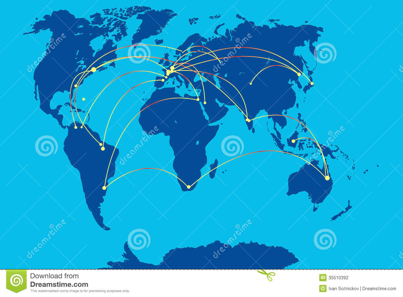Mobile connection on map of world stock vector illustration of mobile connection on map of world gumiabroncs Images