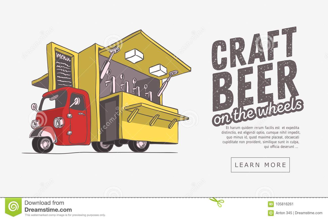 Mobile Craft Beer Pop Up Vehicle For Catering And Street Selling Web