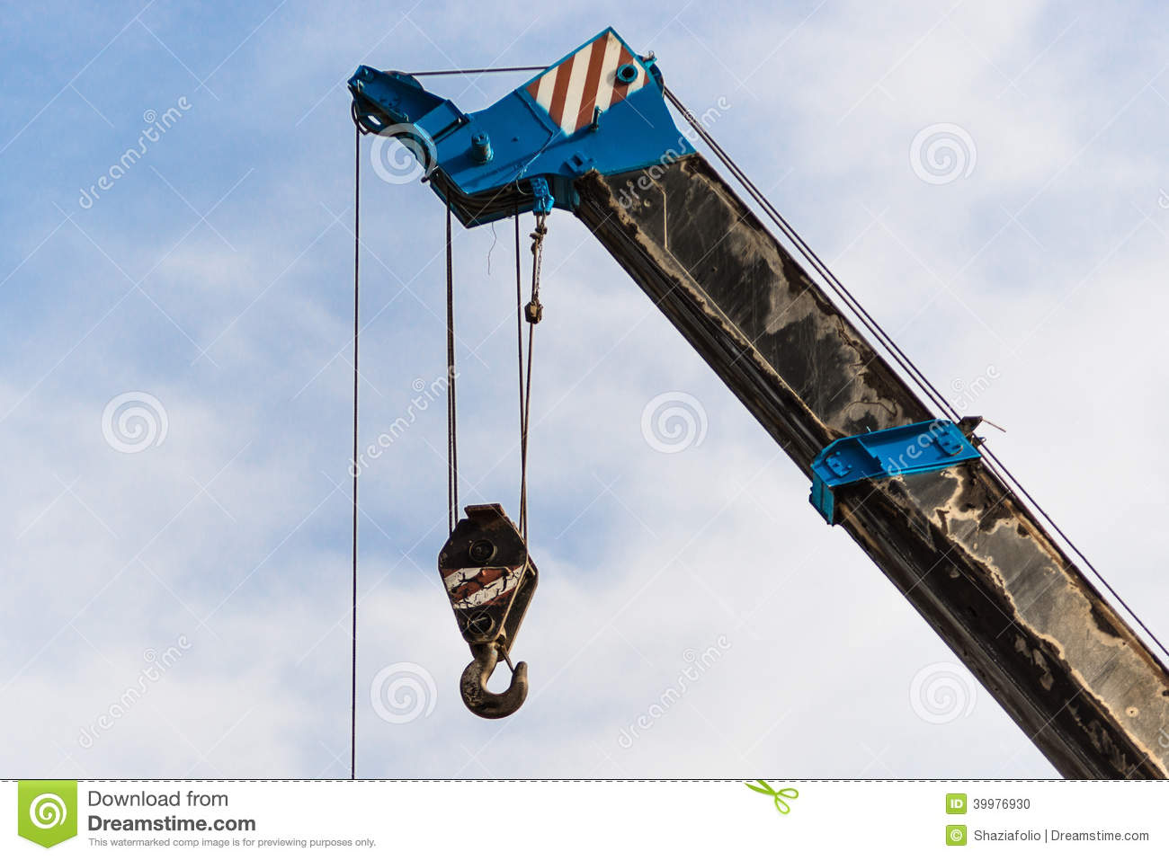 mobile crane boom with hook stock photo image 39976930