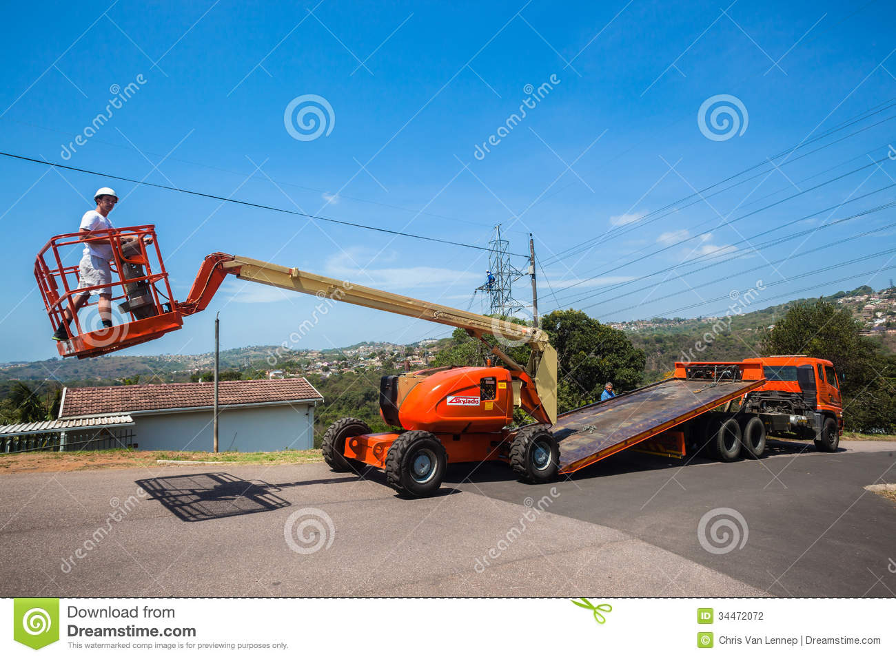 Mobile Crane Driver : Mobile crane operator flat bed truck editorial photography