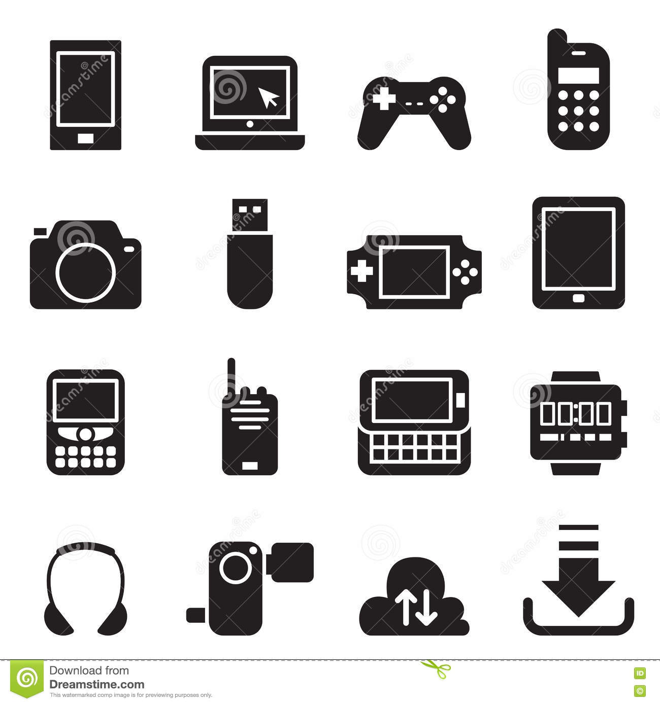Mobile Device icons Set Vector illustration