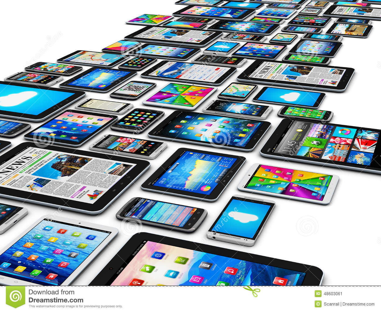 Mobile Devices Stock Illustration Image 48603061