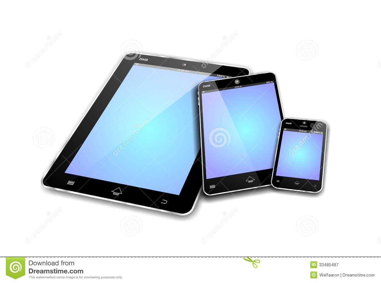 MOBILE DEVICES empty screens