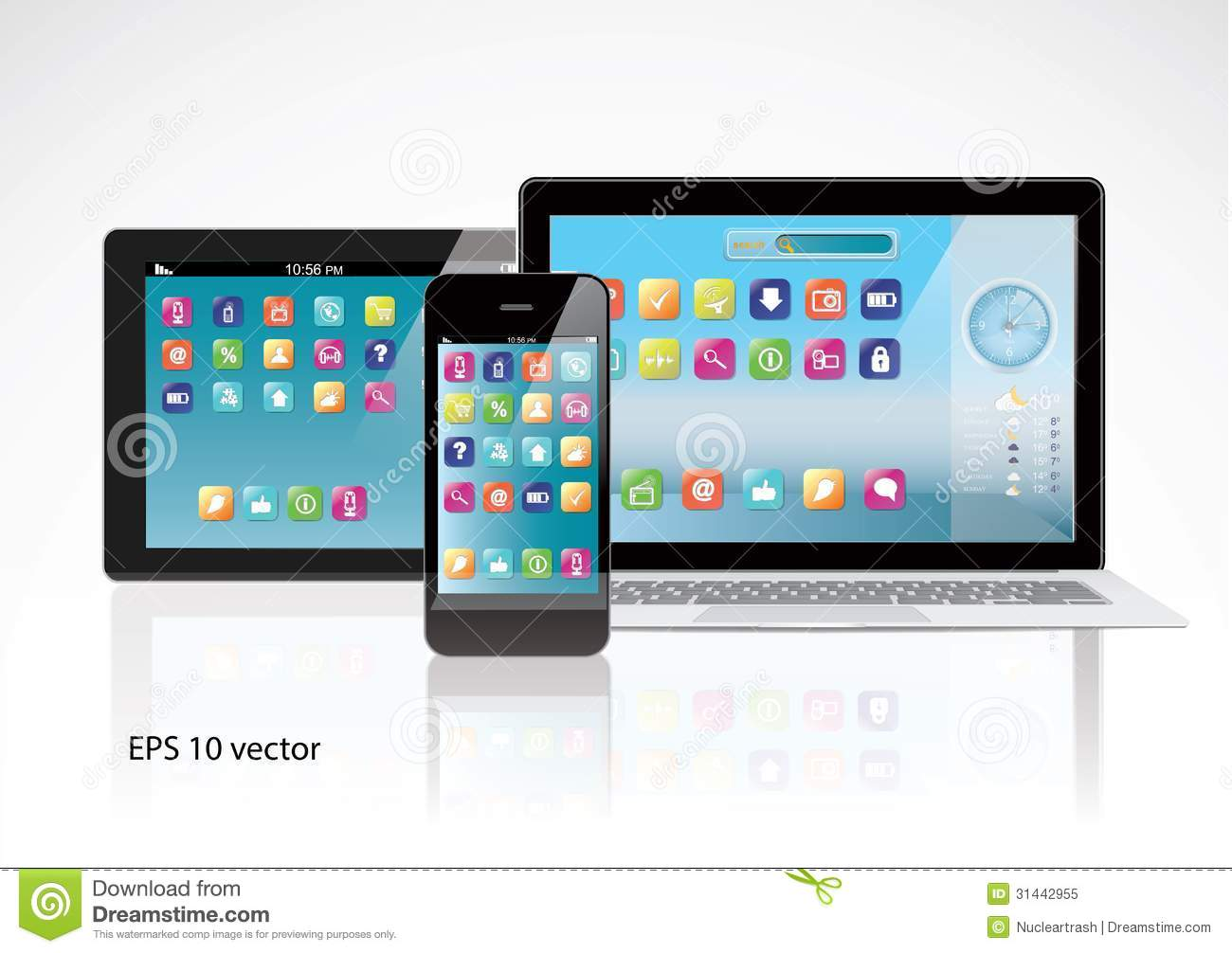 Mobile devices royalty free stock photo image 31442955 for Notebook tablet