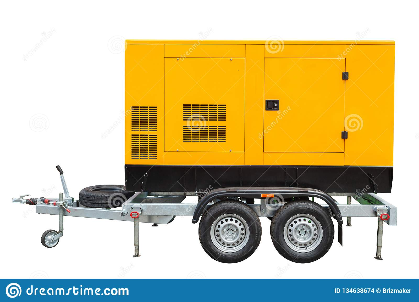 Mobile Diesel Generator For Emergency Electric Power Isolated On