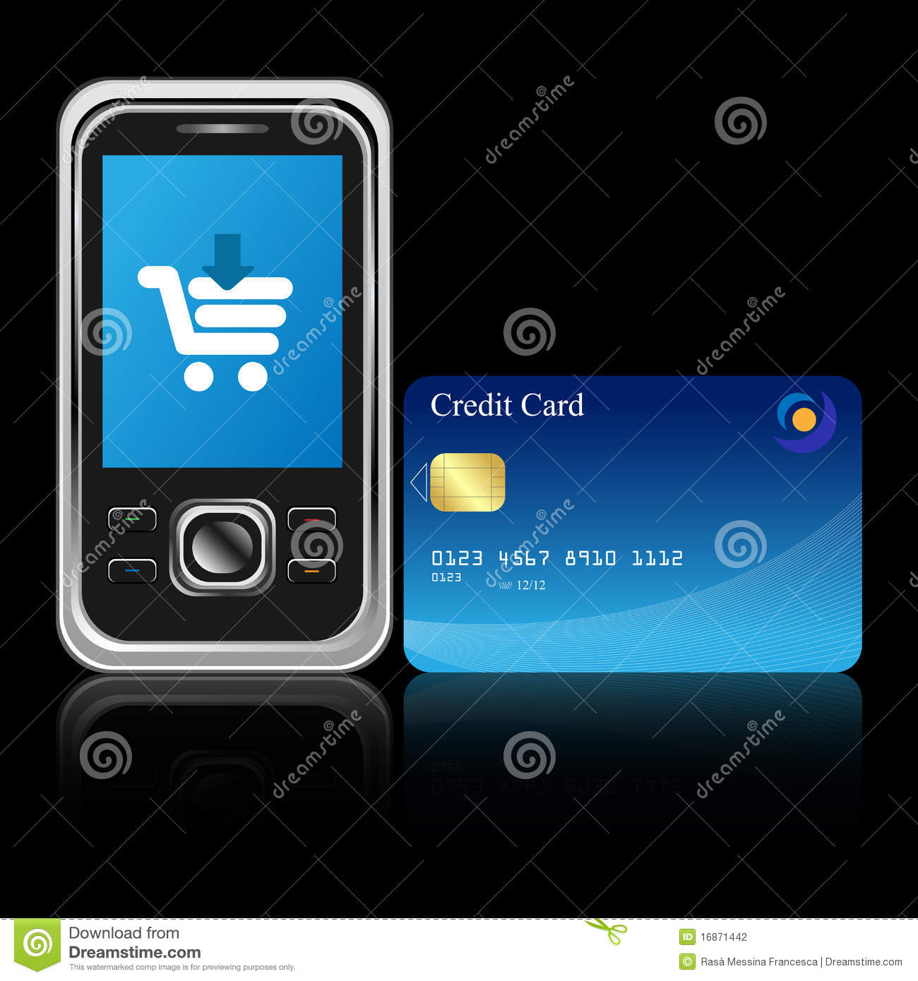 Mobile e commerce stock vector image of card commerce for E commerce mobili