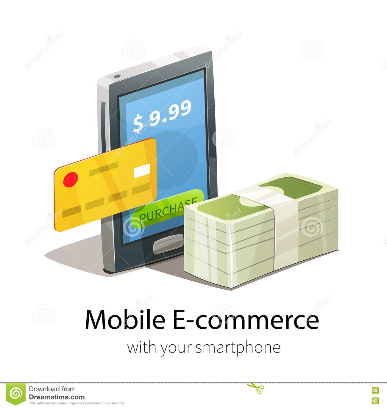 Mobile e commerce concept stock vector image 73463043 for E commerce mobili