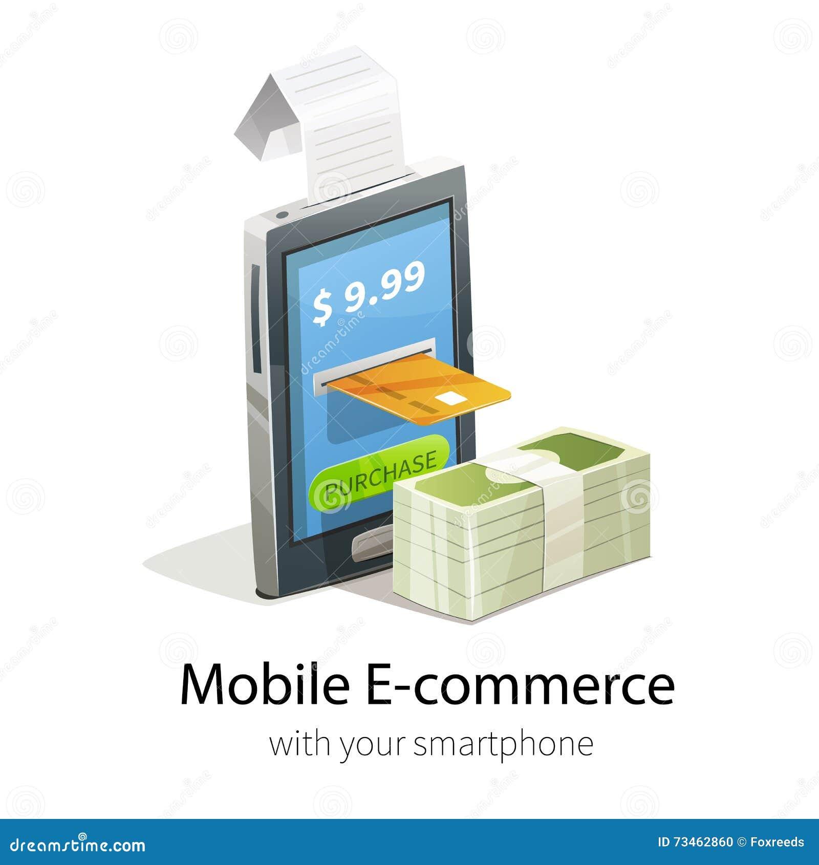 Mobile e commerce concept stock vector image 73462860 for E commerce mobili