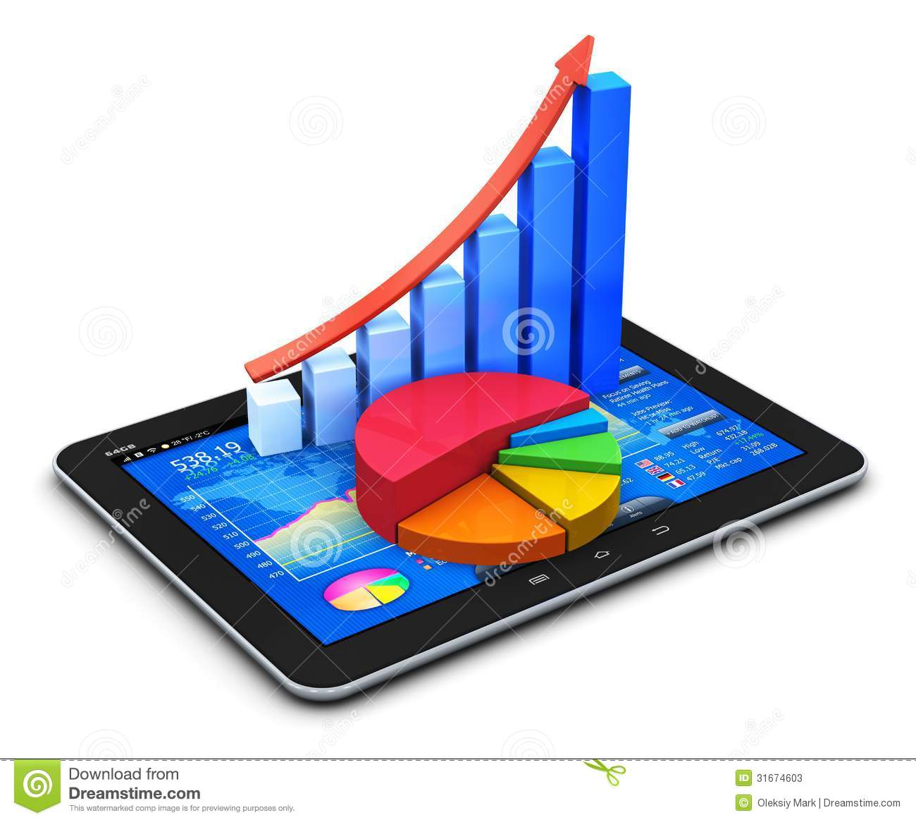 Mobile Finance And Statistics Concept Stock Illustration - Image: 31674603