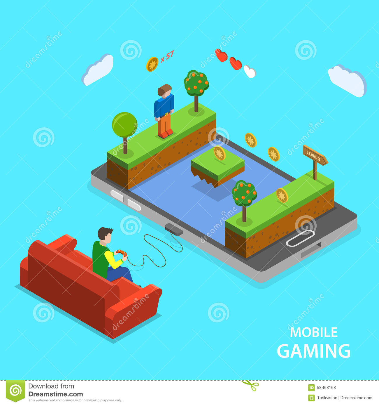 Mobile Gaming Icons Set Hexagon Cartoon Vector 91345239