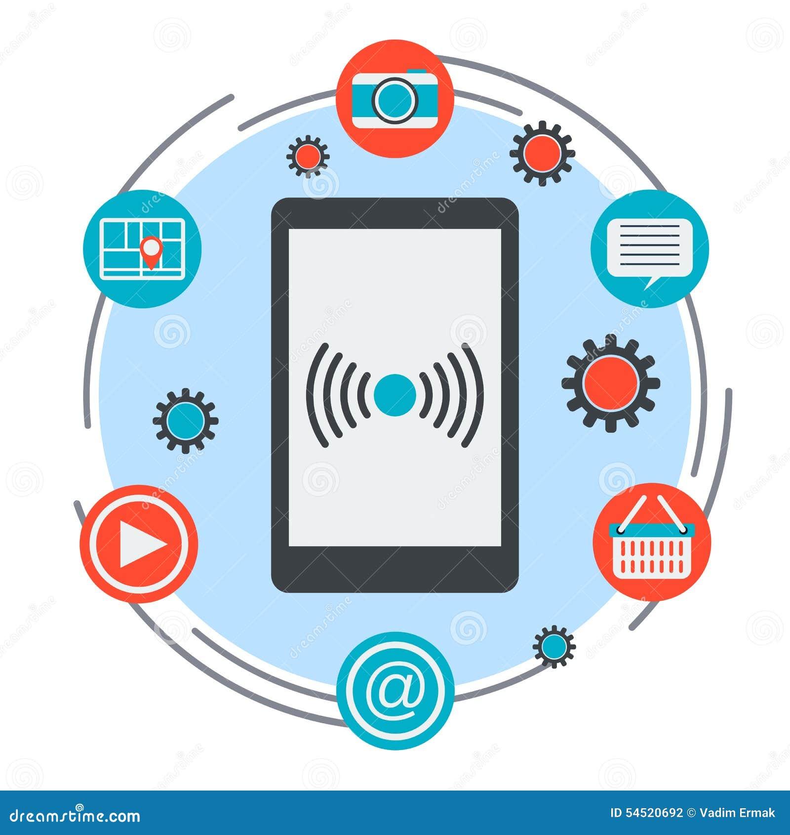 Mobile hält Konzept instand