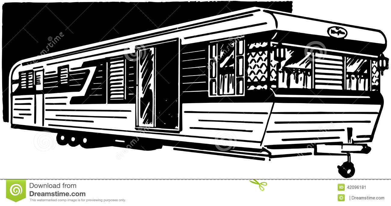 mobile home 3 stock vector illustration of forties trailers 42096181 rh dreamstime com mobile home clipart black and white mobile home clipart free