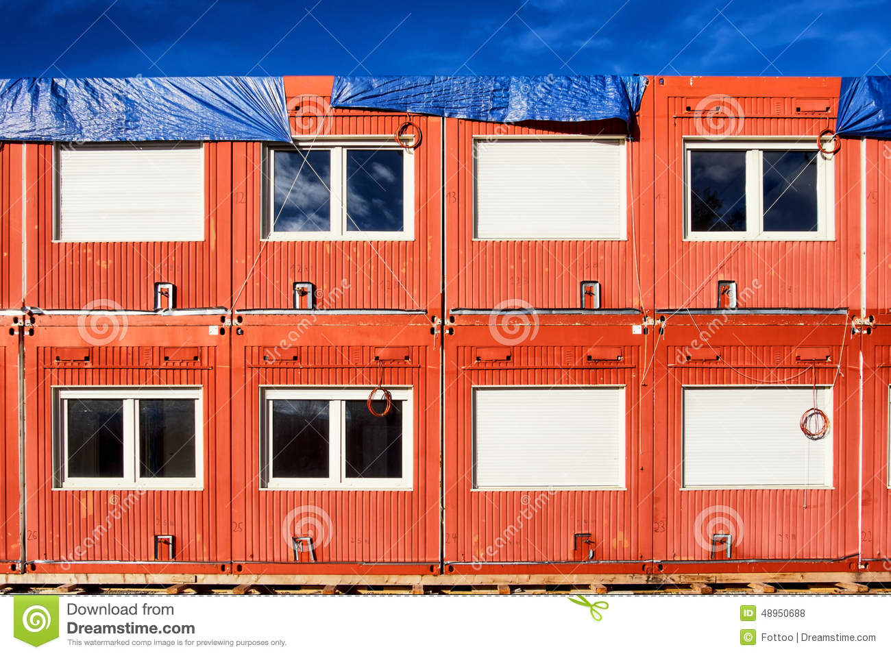 Mobile home container stock photo image 48950688 - Container mobile home ...